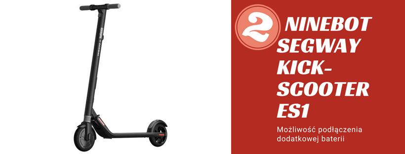 hulajnoga elektryczna Ninebot Segway KickScooter ES1