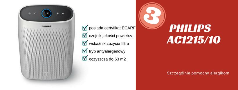 ranking oczyszczacz powietrza philips ac1215/10