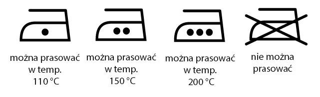 symbole na metkach oznaczenia prasowania